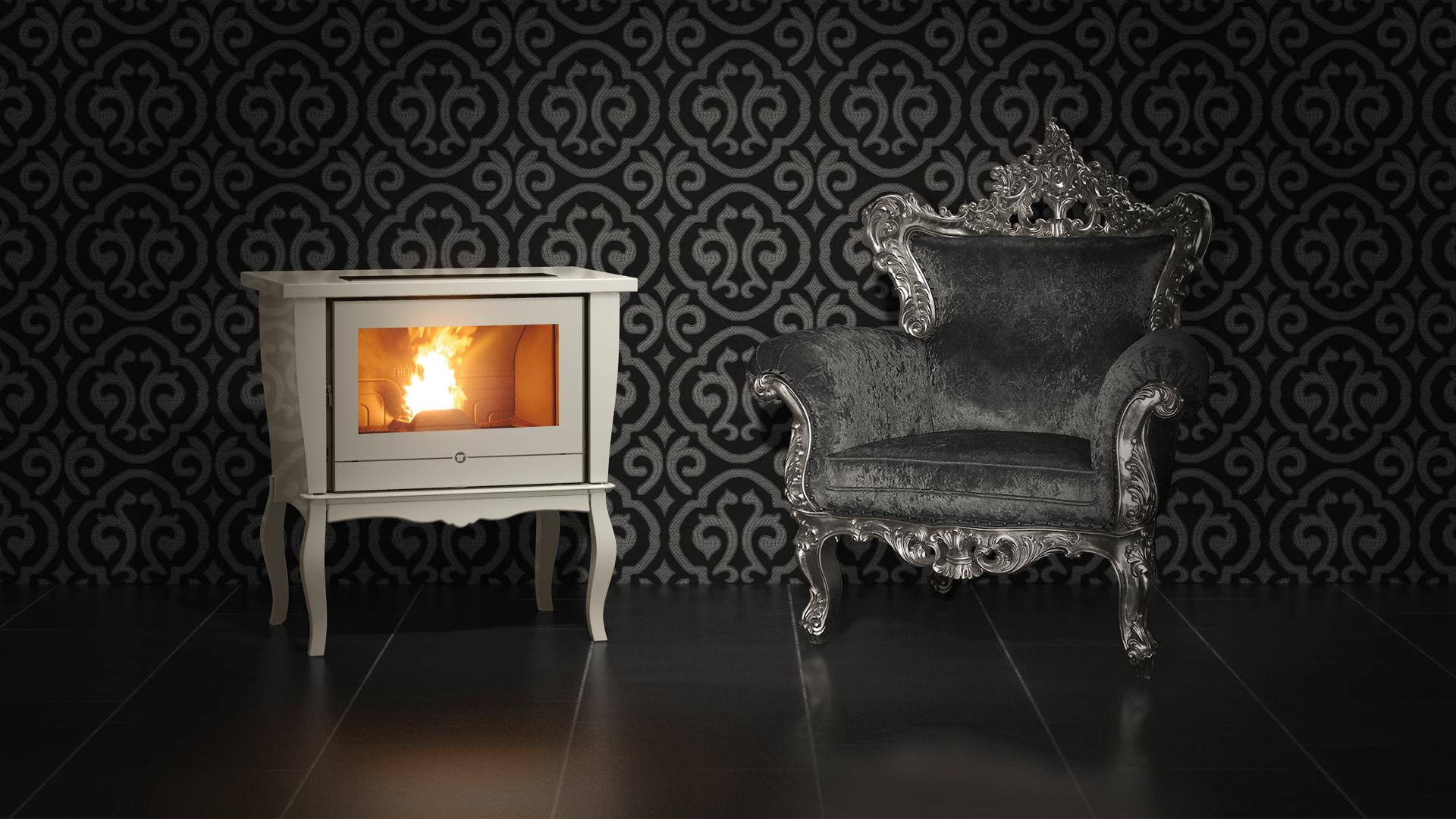 po les granul s settecento s fires chauffage bois et. Black Bedroom Furniture Sets. Home Design Ideas