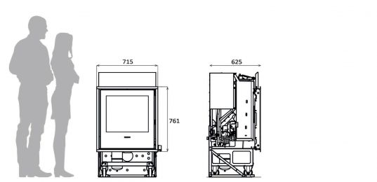 Inserts hydraulique granul s design insertline idra maxi for Thermorossi slimquadro idra maxi