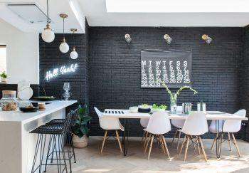 Un mur en briques noires à Londres