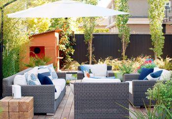 Un espace extérieur élégant pour toute la famille