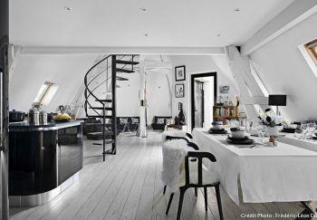 Un loft sous les toits de Paris