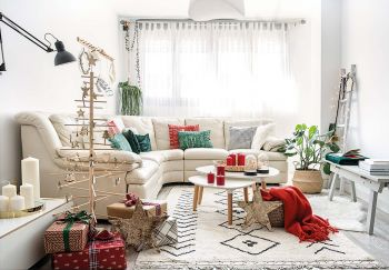 Un Noël en rouge et blanc.